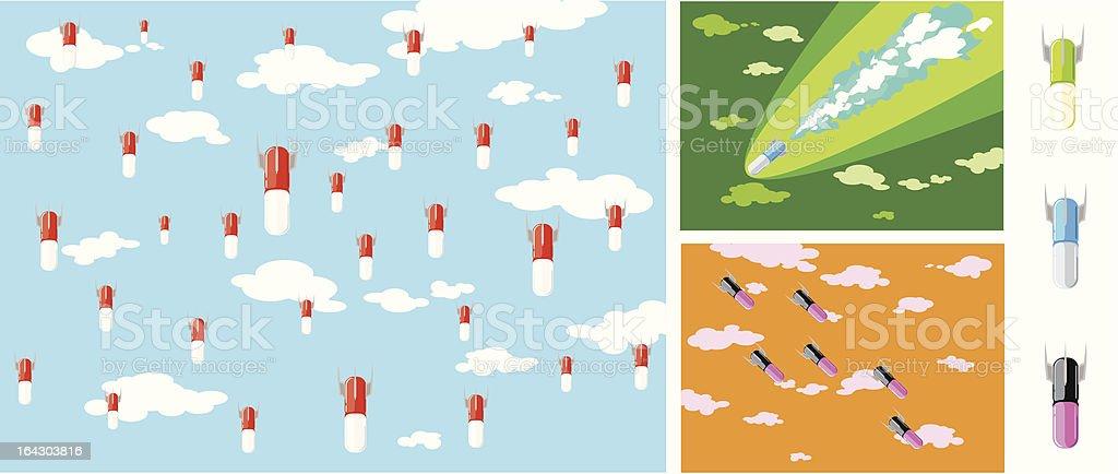 pillole bomba vector art illustration