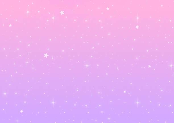 Pink and violet gradation galaxy background vector art illustration