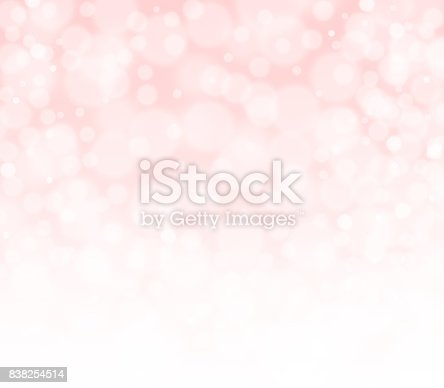 Pink peachy and white bokeh abstract background. Banner, wallpaper, poster design with space for text. Minimal modern hi res collection