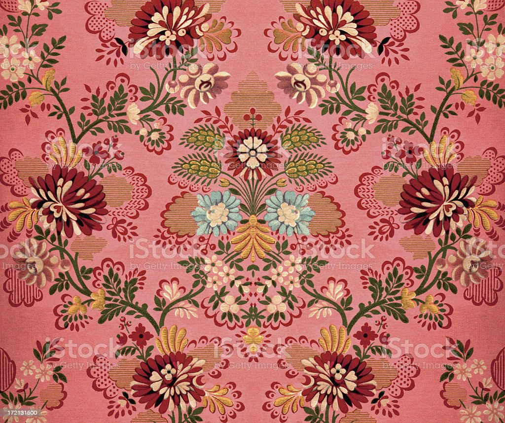Pink Baroque Decoration vector art illustration