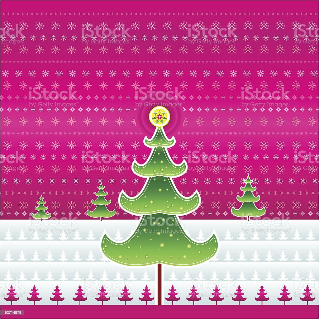 Pink christmas - vector royalty-free pink christmas vector stock vector art & more images of alder tree