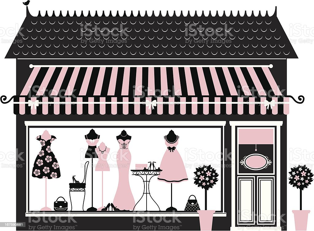 Pink Fashion Boutique royalty-free pink fashion boutique stock vector art & more images of awning