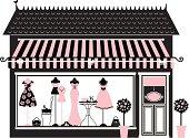 A cute fashion boutique.