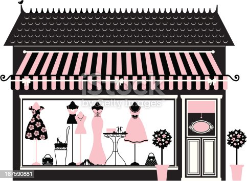 Pink Fashion Boutique Stock Vector Art Amp More Images Of
