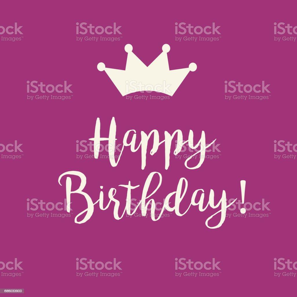 Rosa Happy Birthday Greeting Card Lizenzfreies Stock Vektor Art Und Mehr