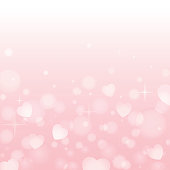 Vector background with sparkle and hearts.