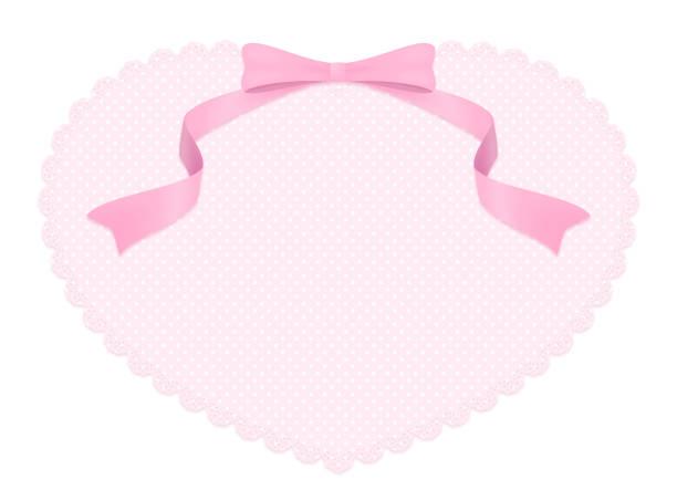 ピンクのハート レース コピー スペース ベクターアートイラスト