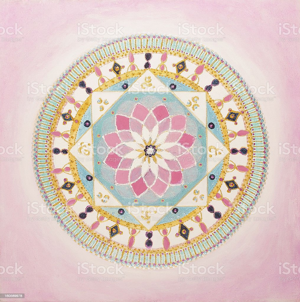 Pink Mandala royalty-free stock vector art