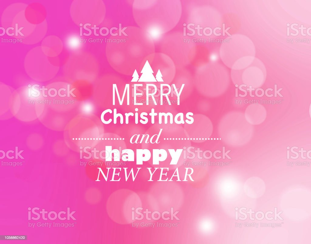 pink merry christmas and happy new year card royalty free pink merry christmas and happy