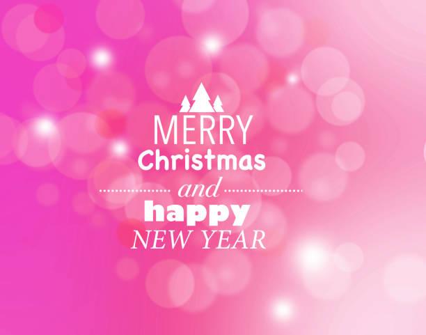Rosa feliz Navidad y feliz año nuevo tarjeta - ilustración de arte vectorial