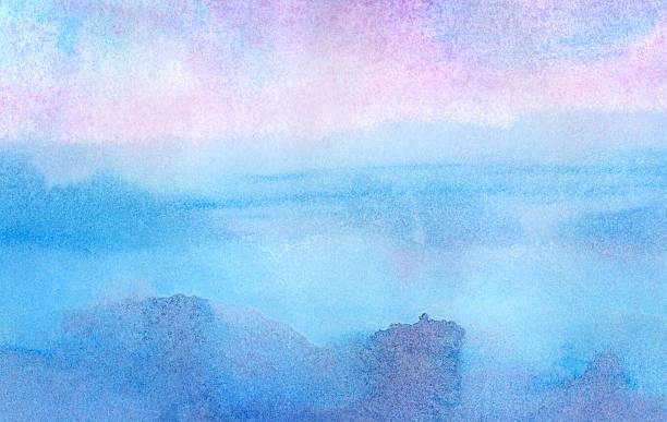 bildbanksillustrationer, clip art samt tecknat material och ikoner med pink morning - watercolor background - pink sunrise