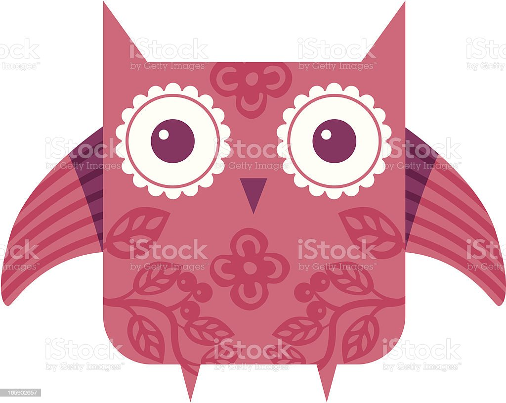 Pink owl royalty-free stock vector art
