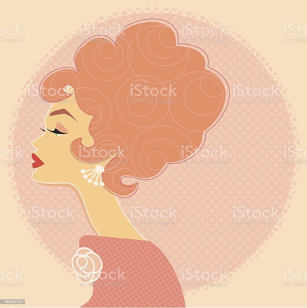 Pink Profile vector art illustration