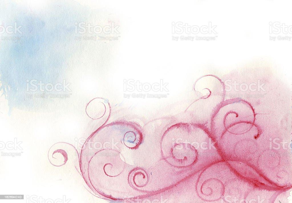 pink spring vector art illustration