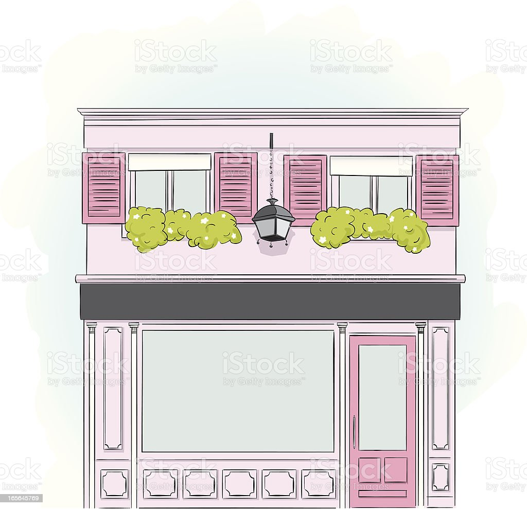 Pink Storefront royalty-free stock vector art