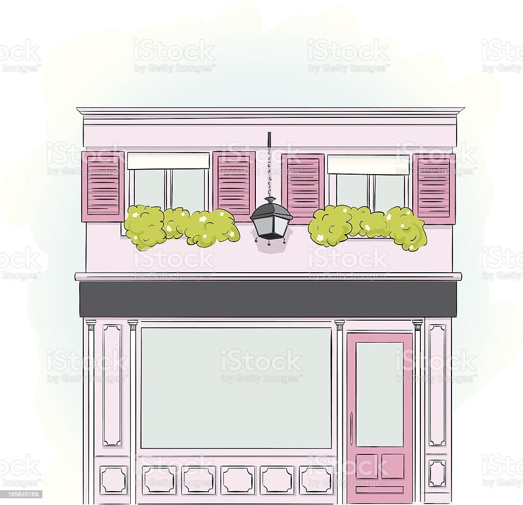 Fachada da cor-de-rosa - ilustração de arte em vetor