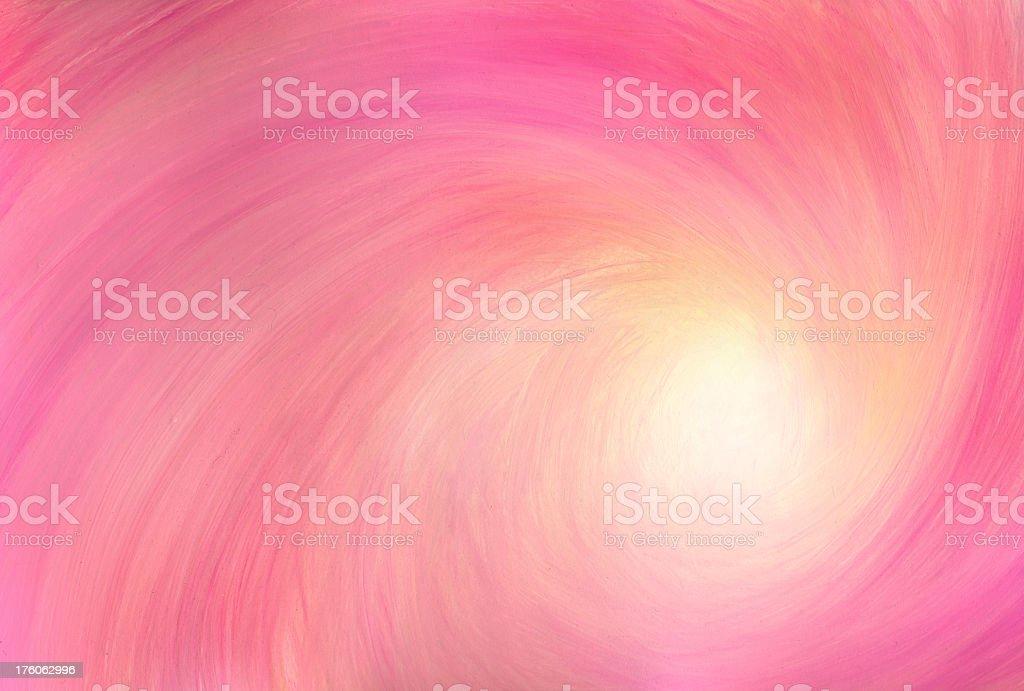 Pink tornado vector art illustration