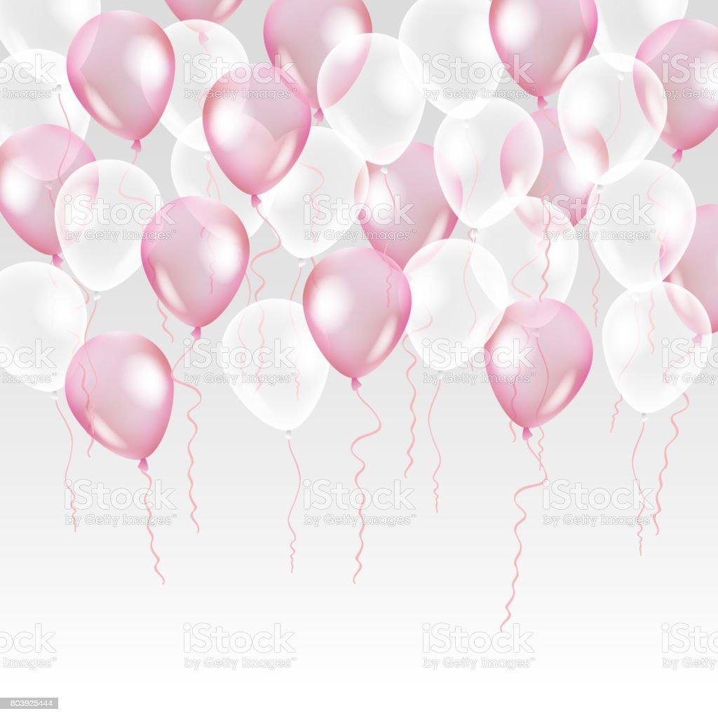 ピンク色の透明背景に熱気ます - お祝いのベクターアート素材や画像を