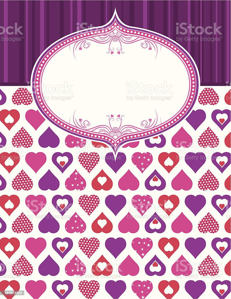 pink valentine background with hearts royalty-free stock vector art
