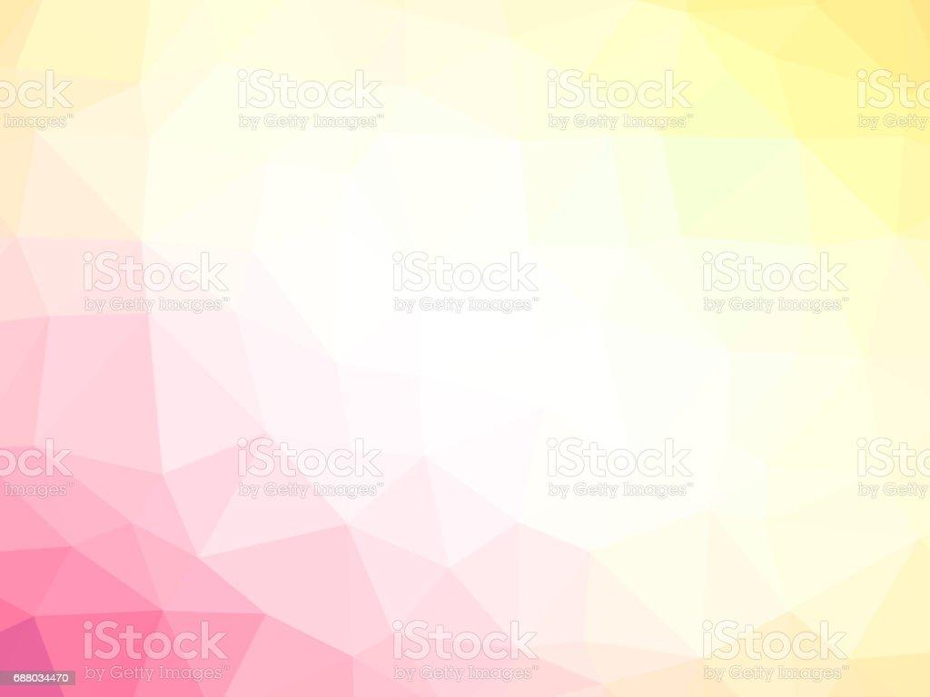 Pink yellow polygonal background vector art illustration