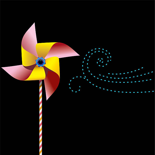 Pinwheel and breeze.eps vector art illustration