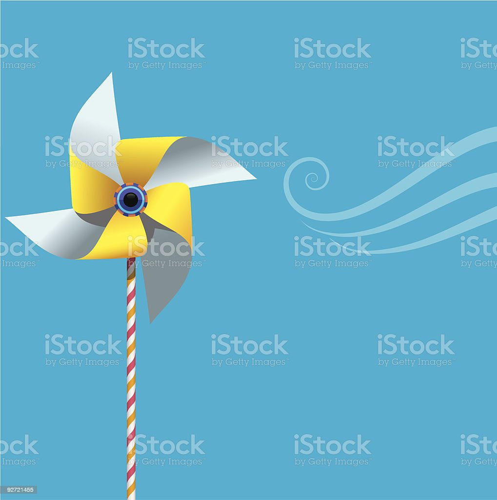 Pinwheel on blue.eps royalty-free pinwheel on blueeps stock vector art & more images of blue