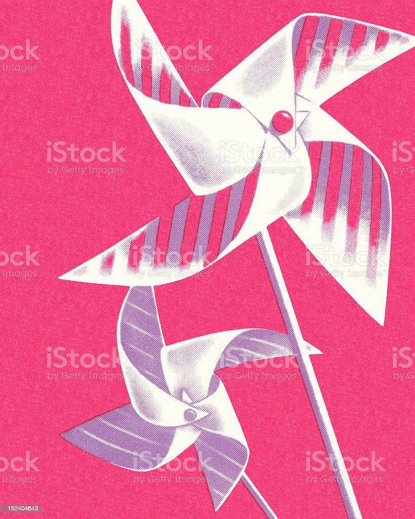 Pinwheels royalty-free stock vector art