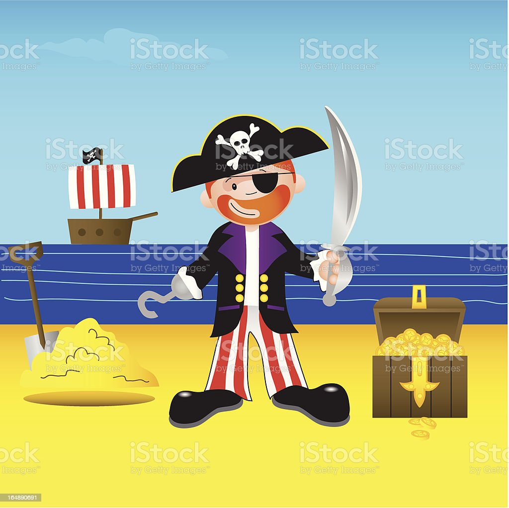 Pirate - Arrgh Me Hearties. royalty-free stock vector art