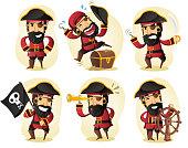 cartoon Pirate action set.