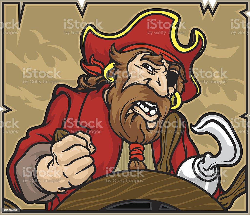 Pirate Capitão - ilustração de arte em vetor