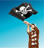 Pirate Flag Soccer Fan