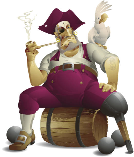 pirate - old man hat stock illustrations, clip art, cartoons, & icons