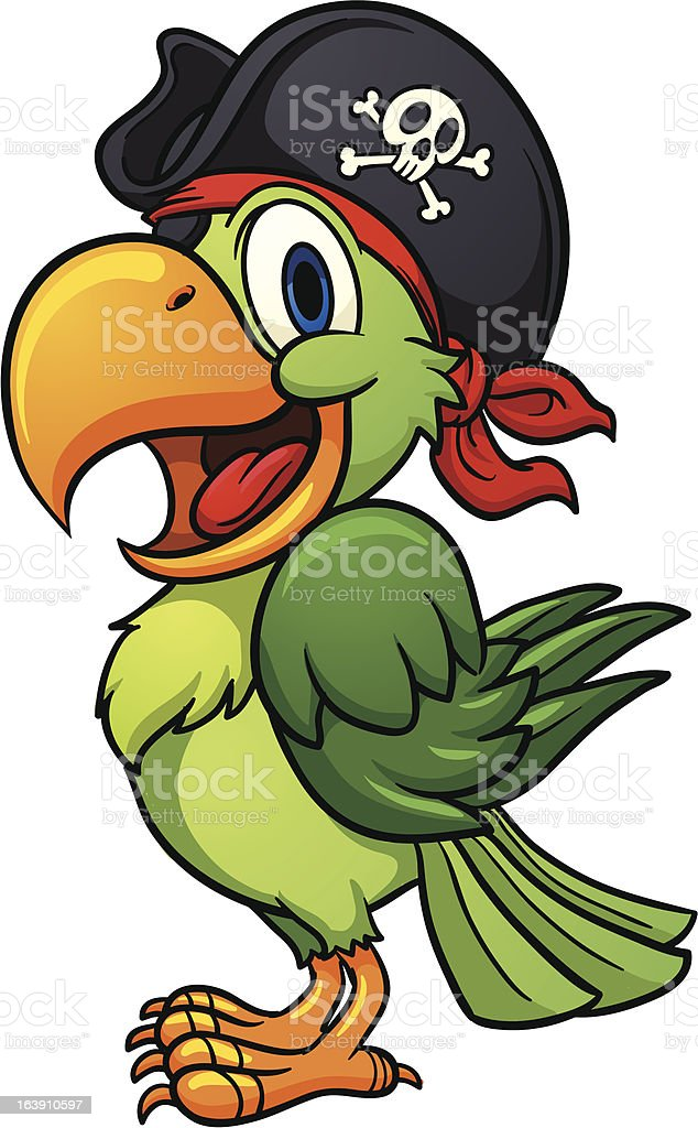 Pirate parrot royalty-free stock vector art