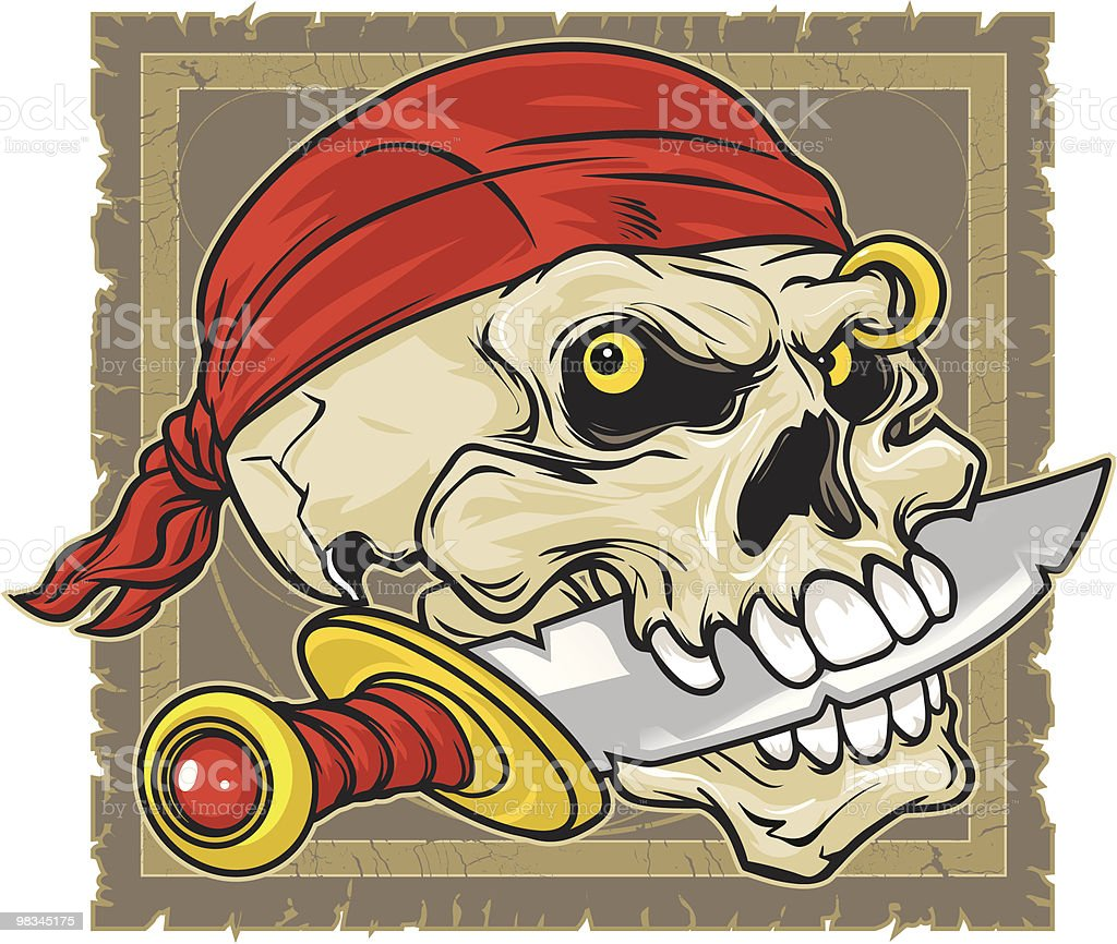 Pirate skull royalty-free pirate skull stock vector art & more images of anger