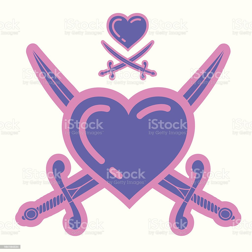 Pirates Of Love royalty-free stock vector art