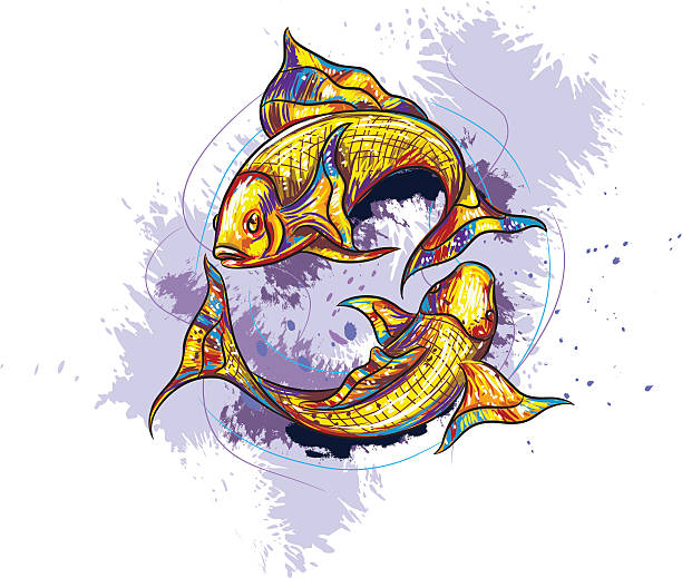 illustrations, cliparts, dessins animés et icônes de signe du poisson - pisces zodiac