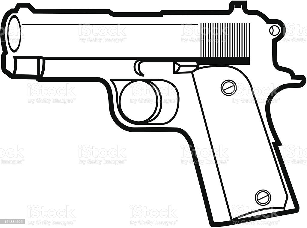 Pistol vector royalty-free stock vector art