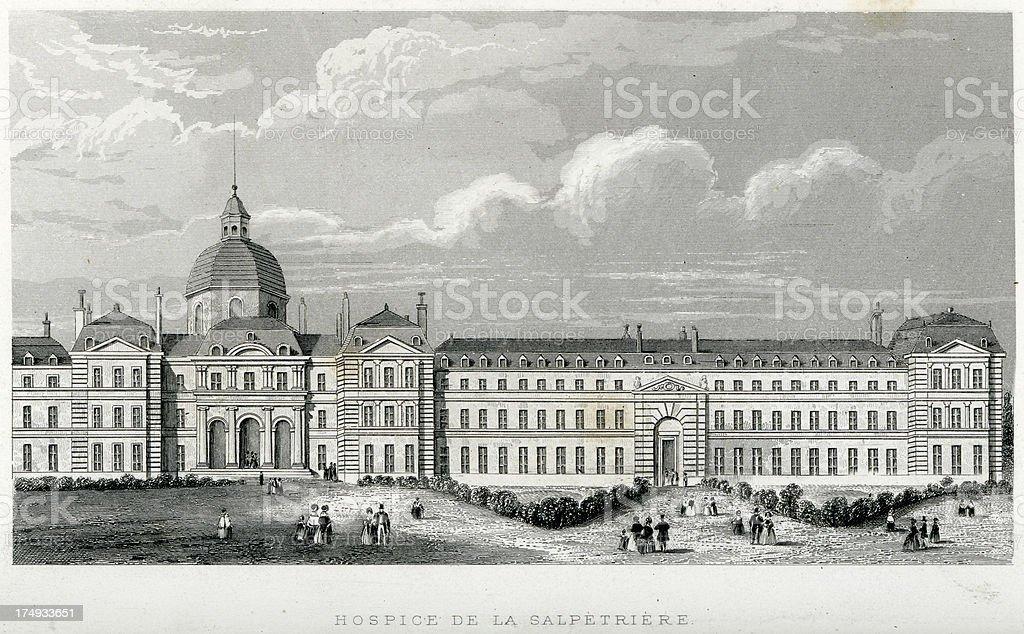 Pitié-Salpêtrière Hospital royalty-free pitiésalpêtrière hospital stock vector art & more images of 19th century