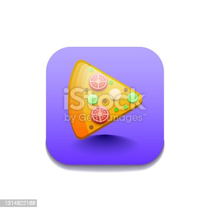 istock Pizza Fries Fast Food Logo Vector Symbol Icon Design Style 1314822188