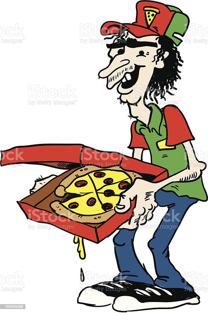 pizza guy royalty-free stock vector art