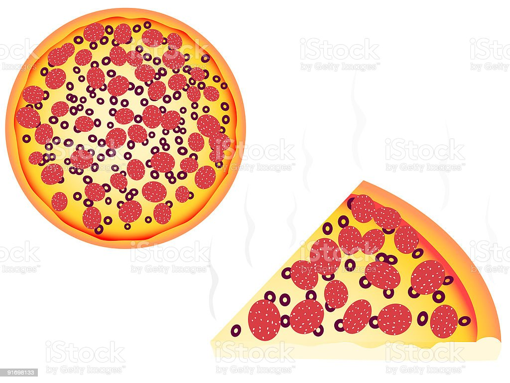 Pizza royalty-free stock vector art