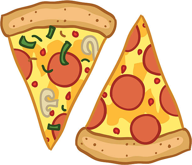 Royalty Free Pepperoni Pizza Clip Art, Vector Images ...