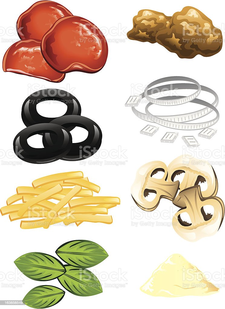royalty free pizza toppings clip art vector images illustrations rh istockphoto com  pizza toppings clipart black and white