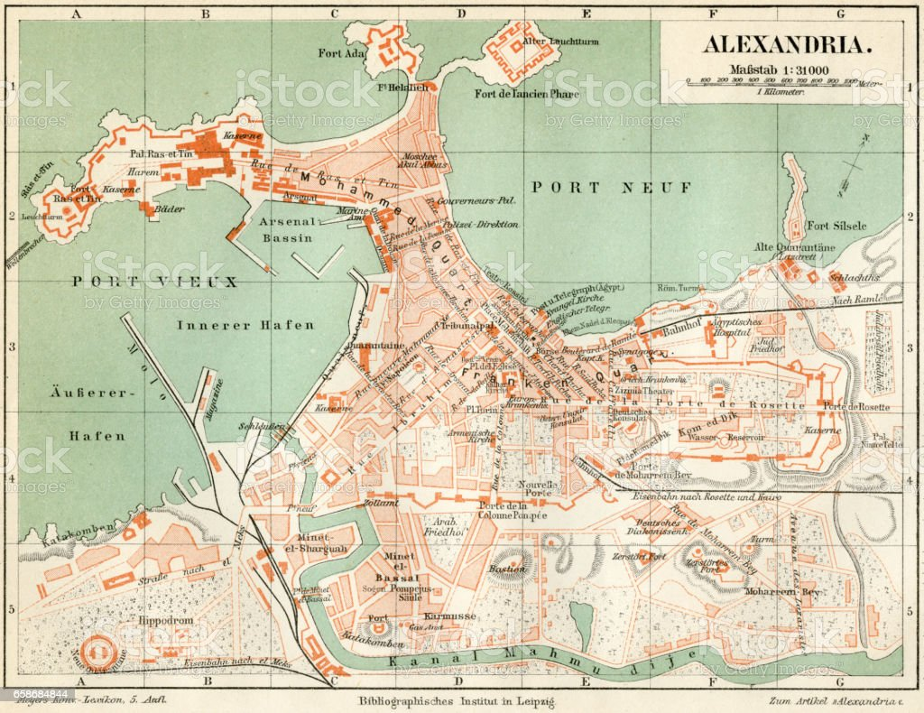 plan of the old city alexandria 1895 royalty free plan of the old city alexandria