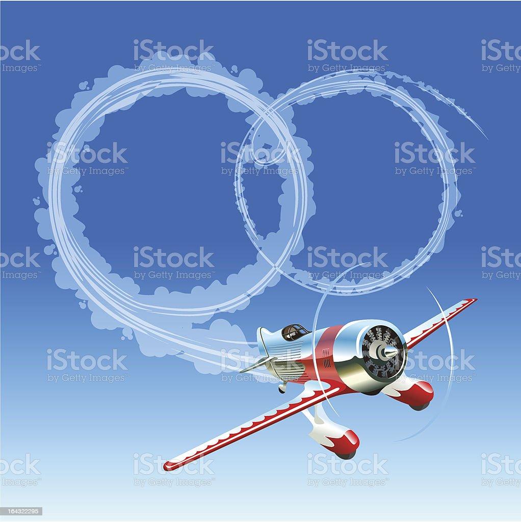 Plane sending wedding message royalty-free stock vector art
