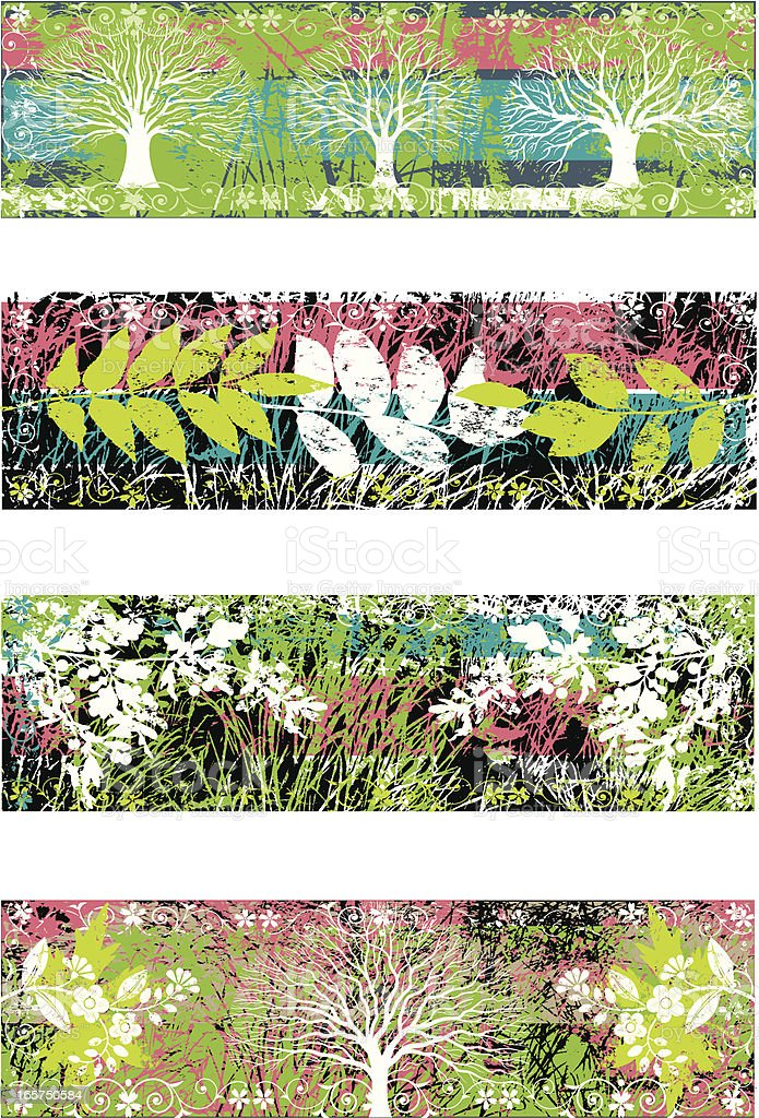 Plant banners two vector art illustration
