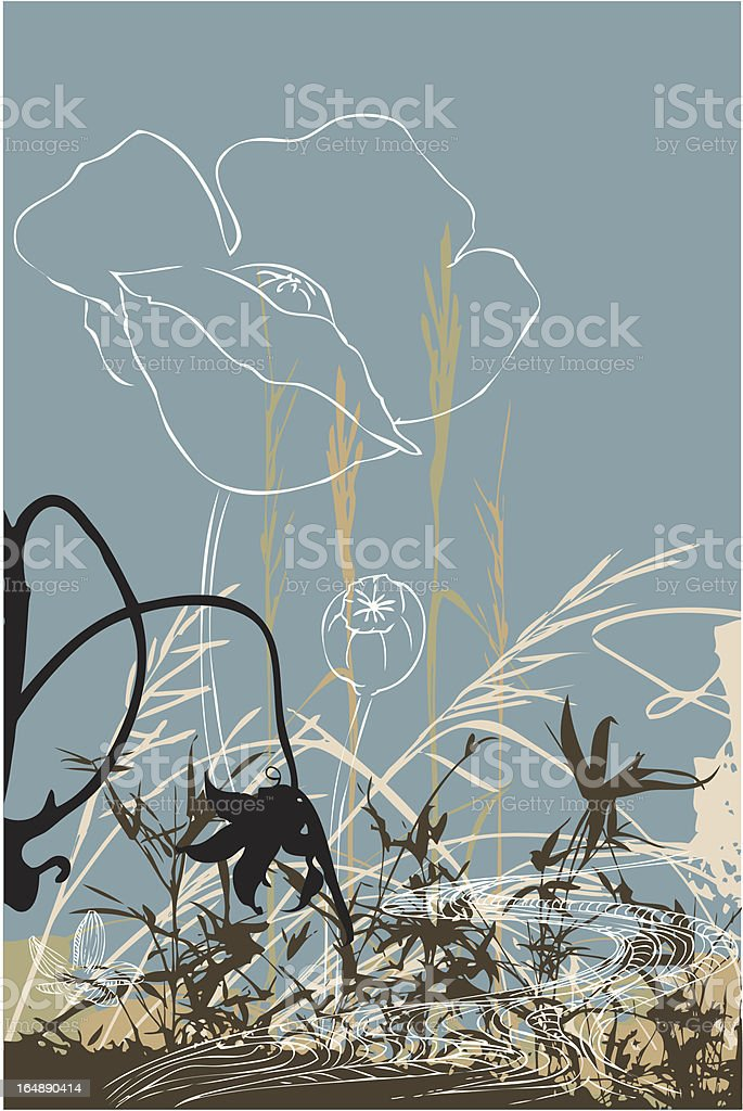 Plant Collage royalty-free stock vector art
