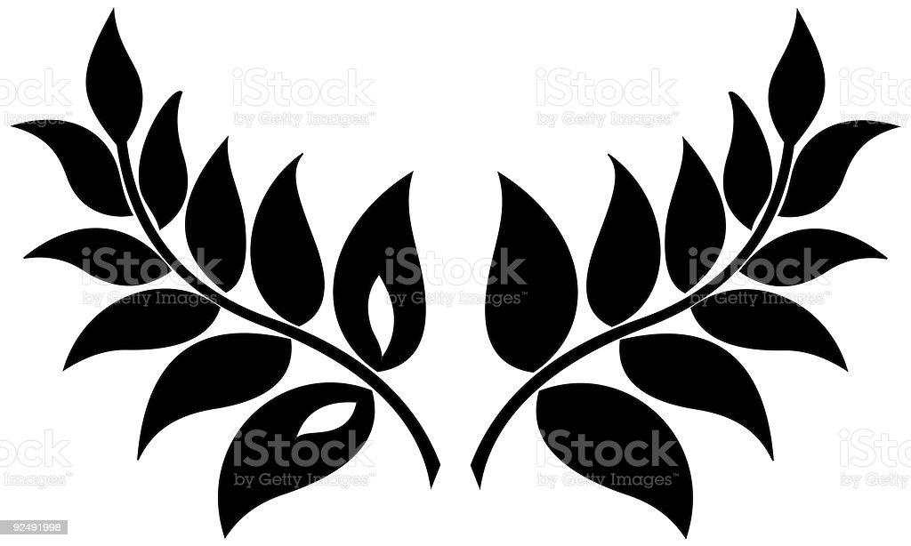 plant leaves royalty-free plant leaves stock vector art & more images of black color