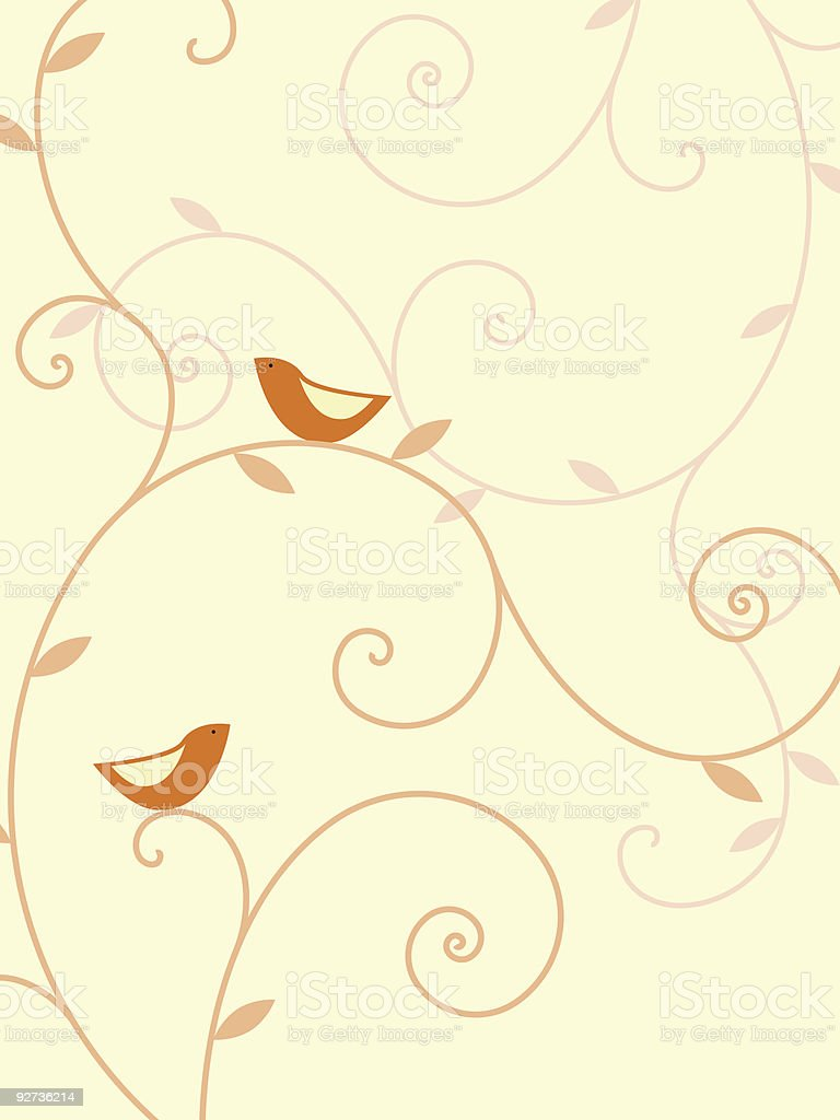 Plants and birds - Royalty-free Bird stock vector