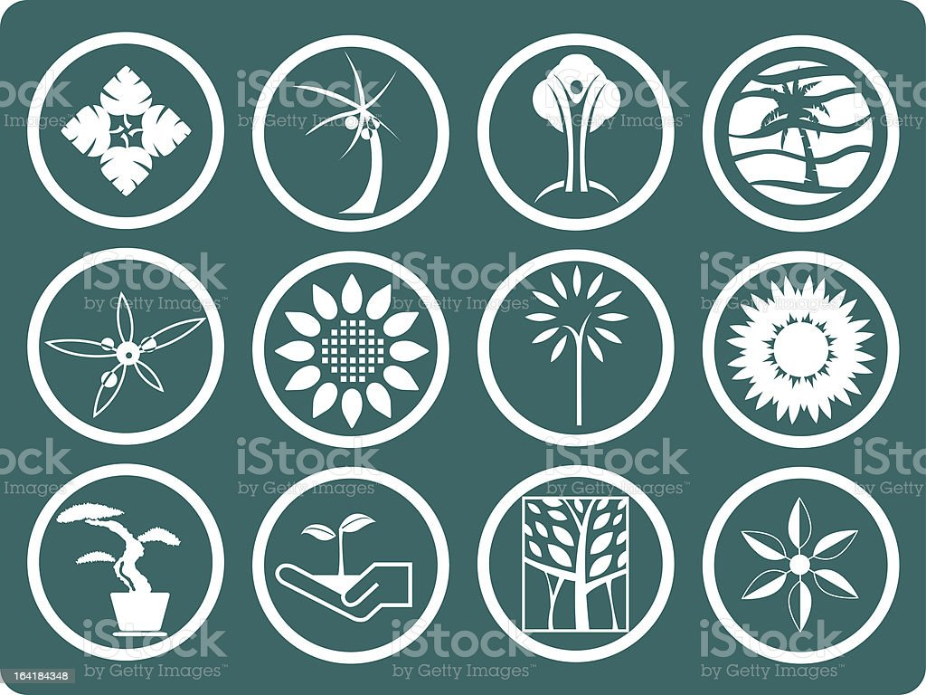 Plants icon vector art illustration